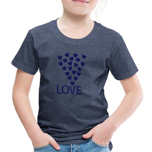 Kinder Premium T-Shirt: Love Hearts - Kinder Premium T-Shirt