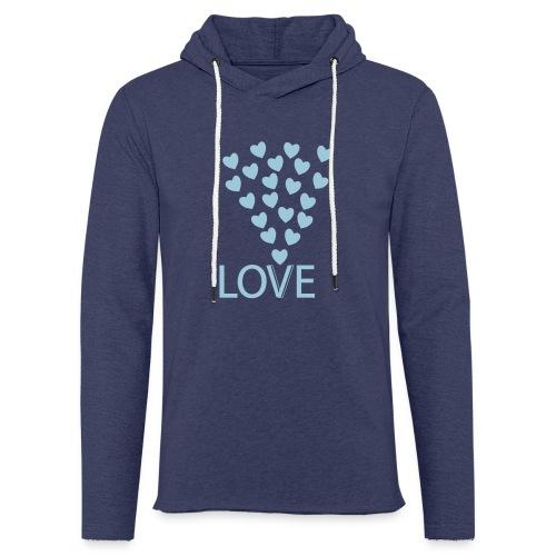 Kapuzensweatshirt: Love Hearts - Leichtes Kapuzensweatshirt Unisex