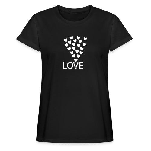 Frauen Oversize T-Shirt: Love Hearts - Frauen Oversize T-Shirt