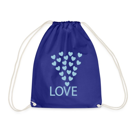 Turnbeutel: Love Hearts - Turnbeutel