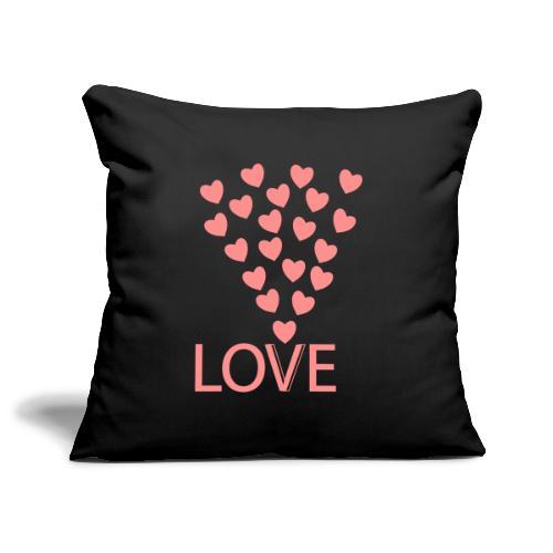 Sofakissenbezug: Love Hearts - Sofakissenbezug 44 x 44 cm