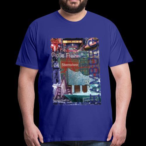 Collage: Hamburgs Vielfalt - Männer Premium T-Shirt