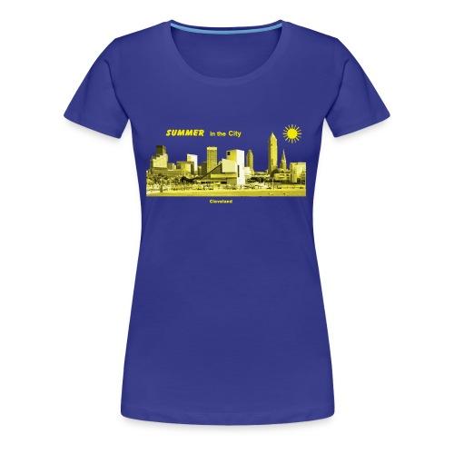 Cleveland Skyline Summer T-Shirts - Frauen Premium T-Shirt