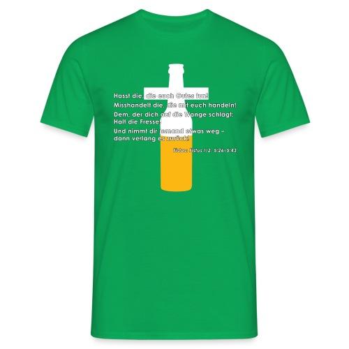 Fistus Zitat Gebote Shirt - Männer T-Shirt
