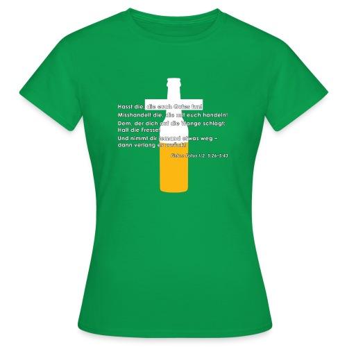 Fistus Zitat Gebote Damen-Shirt - Frauen T-Shirt