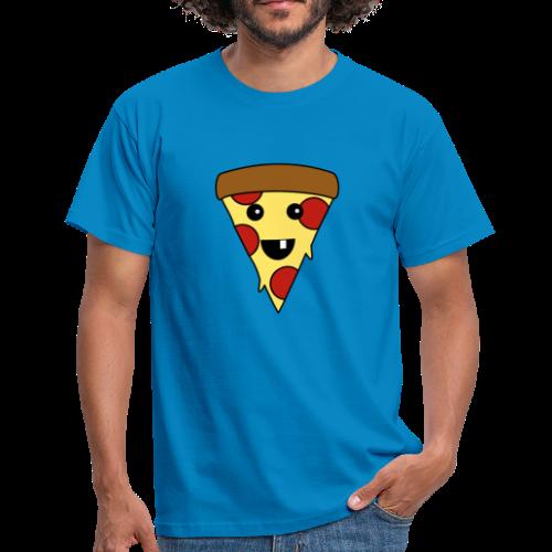 Fröhliche Pizza T-Shirt - Männer T-Shirt