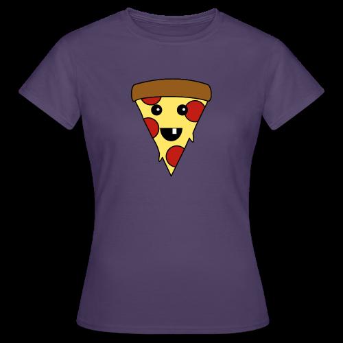 Fröhliche Pizza T-Shirt - Frauen T-Shirt