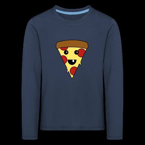 Fröhliche Pizza Kinder Langarmshirt - Kinder Premium Langarmshirt