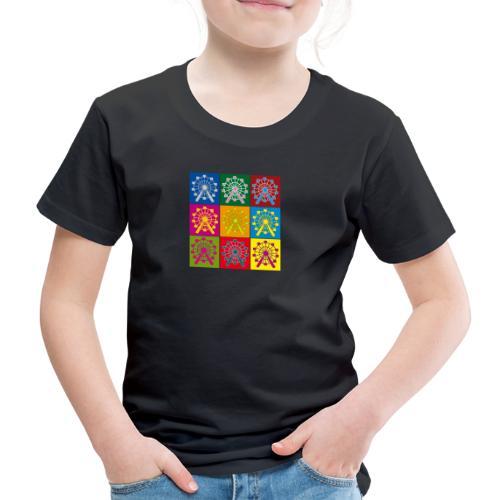 Kinder Premium T-Shirt: Wien Riesenrad Popart - Kinder Premium T-Shirt