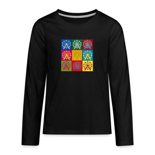 Teenager Langarmshirt: Wien Riesenrad - Teenager Premium Langarmshirt