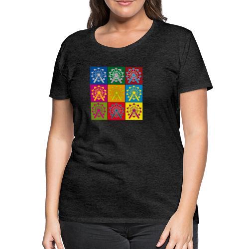 Frauen Premium T-Shirt: Wien Riesenrad Popart - Frauen Premium T-Shirt