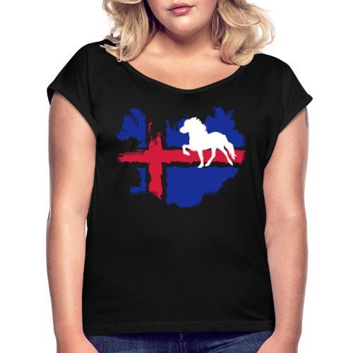 Isi Love - CLASSIC 2 mit Wunschtext - Frauen T-Shirt mit gerollten Ärmeln