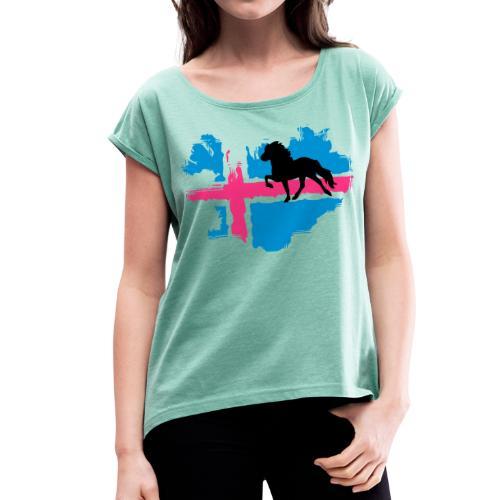 Isi Love - NEON - Frauen T-Shirt mit gerollten Ärmeln