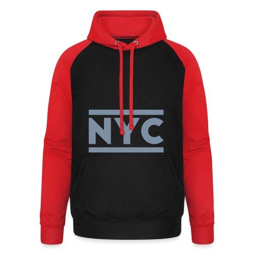 NYC SweatShirt Men - Sudadera con capucha de béisbol unisex