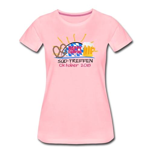 Happy Camping - Süd Treffen 2018 - LADIES Shirt - Frauen Premium T-Shirt