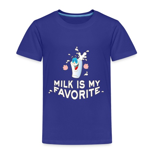 Milk is my favorite Milch Kaffee Sahne Kühe Bauern - Kinder Premium T-Shirt