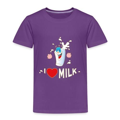 I love Milk Kuh Weide Sahne Schokolade Milchkaffee - Kids' Premium T-Shirt