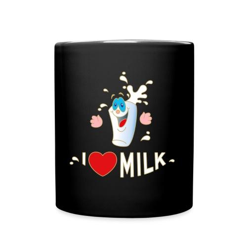 I love Milk Kuh Weide Sahne Schokolade Milchkaffee - Tasse einfarbig