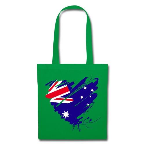 Australien Sydney Kontinent Grunge Herz Flagge - Stoffbeutel