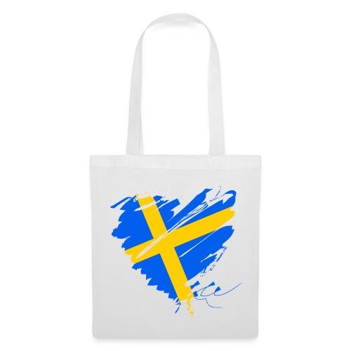 Schweden Skandinavien Europa Fahne Flagge Herz - Stoffbeutel