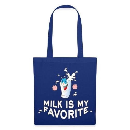 Milk is my favorite Milch Kaffee Sahne Kühe Bauern - Stoffbeutel