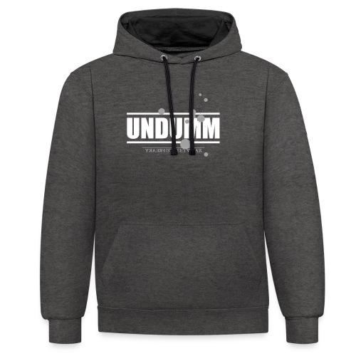 UNDUMM - Kontrast-Hoodie