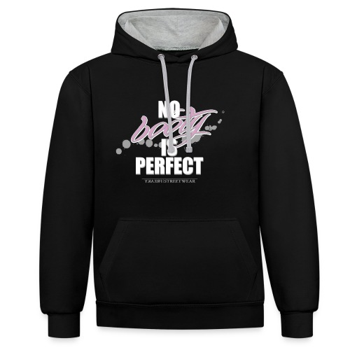 No booty is perfect - Kontrast-Hoodie
