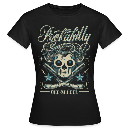 Old School Skull - Camiseta mujer