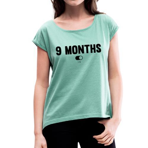 9 MONTHS - T-shirt à manches retroussées Femme