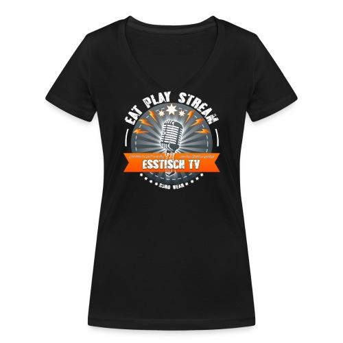 Eat, Play, Stream - Broadcaster - Frauen Bio-T-Shirt mit V-Ausschnitt von Stanley & Stella