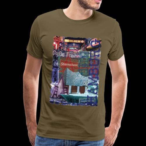 Hamburg Highlights: Künstler-Motiv - Männer Premium T-Shirt