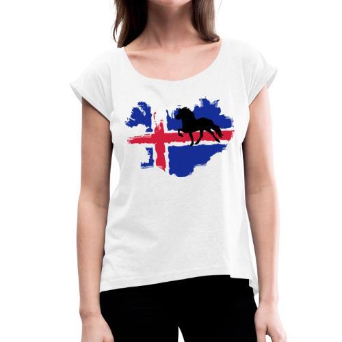 Isi Love - CLASSIC - Frauen T-Shirt mit gerollten Ärmeln