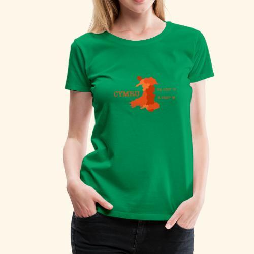 Cymru longitude & latitude - Women's Premium T-Shirt