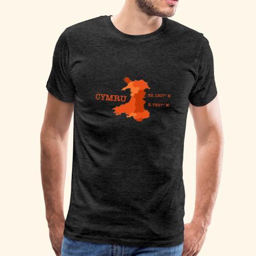Cymru Longitude & Latitude - Men's Premium T-Shirt