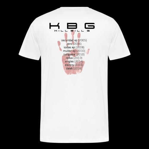 KBG Blood Hand con impresion delantera y trasera (discografia) - Camiseta premium hombre