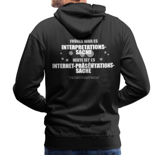 Präsentationssache - Männer Premium Hoodie