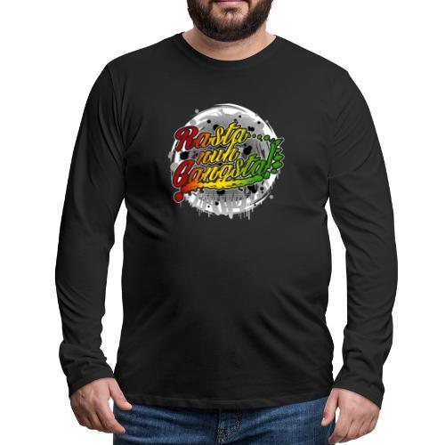 Rasta nuh Gangsta - Männer Premium Langarmshirt