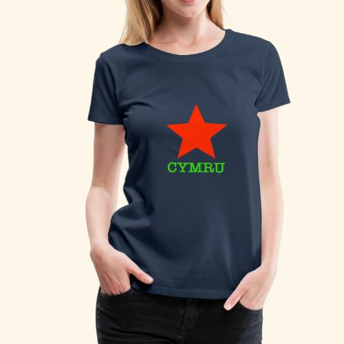 Seren Cymru - Women's Premium T-Shirt