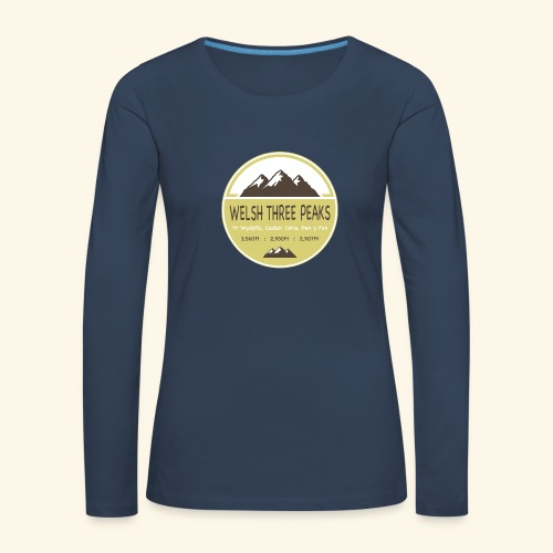 Ladies Welsh Three Peaks - Women's Premium Longsleeve Shirt