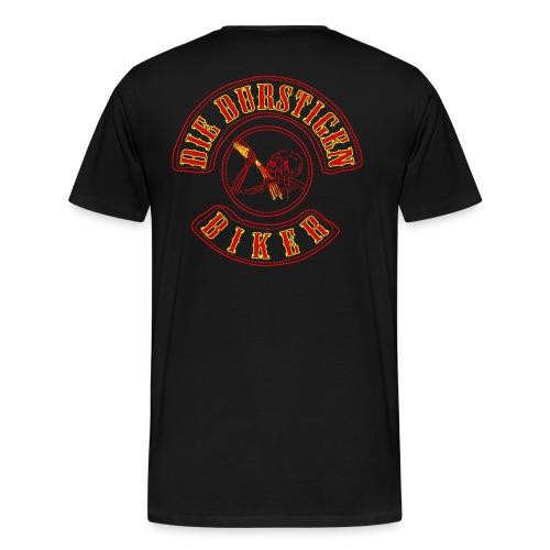 BIKERSKULL_WITH_BEER_DIE_DURSTIGEN - Männer Premium T-Shirt