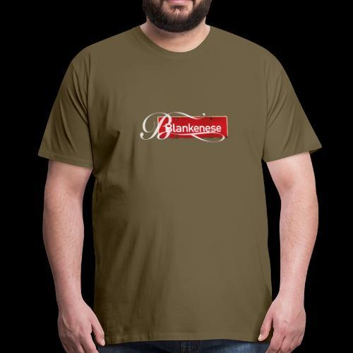 (Hamburg-) Blankenese Antik-Ortsschild mit Tattoo-Buchstaben - Männer Premium T-Shirt