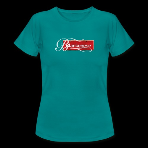 (Hamburg-) Blankenese Antik-Ortsschild mit Tattoo-Buchstaben - Frauen T-Shirt