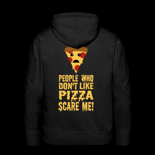 Lustiger Pizza Spruch Hoodie - Männer Premium Hoodie