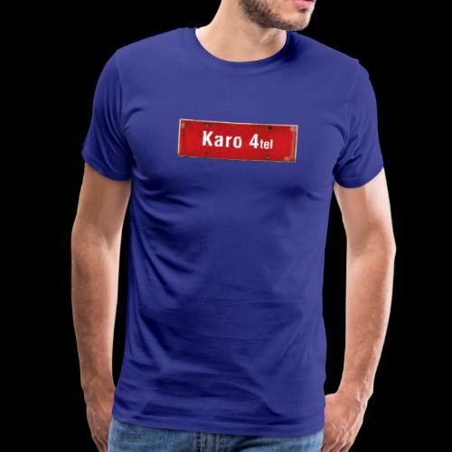 (Hamburg-) Karo 1/4tel Ortsschild - Männer Premium T-Shirt