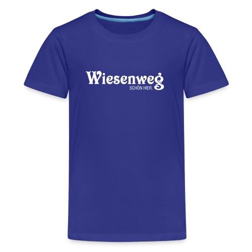 Wiesenweg klassisch dunkel | Teenie - Teenager Premium T-Shirt