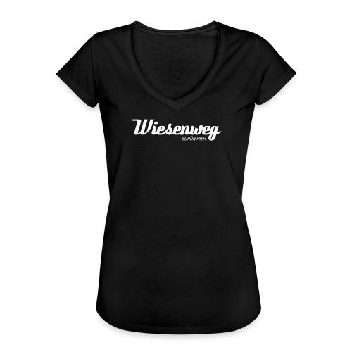 Wiesenweg modern dunkel | Frau - Frauen Vintage T-Shirt