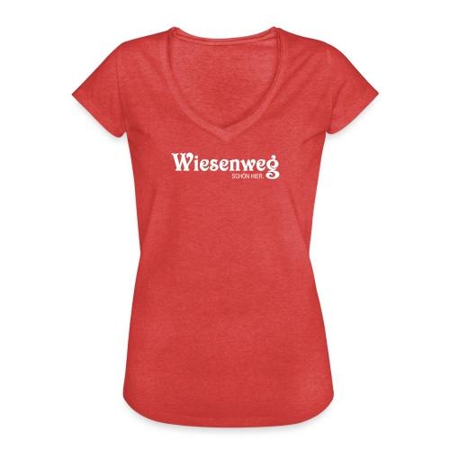 Wiesenweg klassisch dunkel | Frau - Frauen Vintage T-Shirt