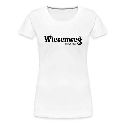 Wiesenweg klassisch hell | Frau - Frauen Premium T-Shirt