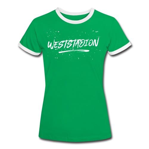 Weststadion  - Frauen Kontrast-T-Shirt