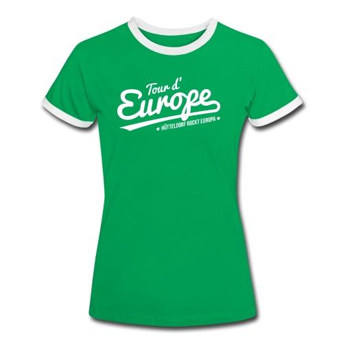 Tour d'Europe 2018 Damen Retro-Shirt - Frauen Kontrast-T-Shirt